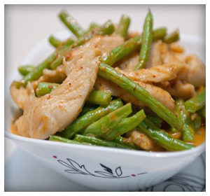 chicken and beans stir fry